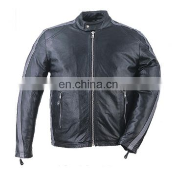 HMB-0405C LEATHER MOTORBIKE JACKETS MOTORCYCLE BIKER COATS