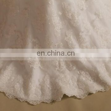 Charming Lace Mermaid Cap Sleeve Keyhole Back Wedding Dress