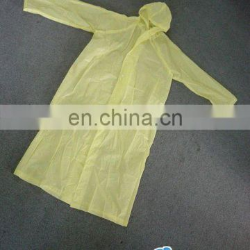 Disposable PE raincoat/water-proof poncho