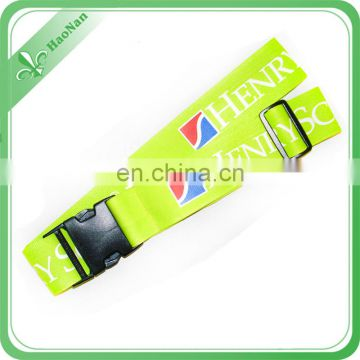 Custom Dye Sublimation Logo Luggage Pull Strap For Carry On Luggage