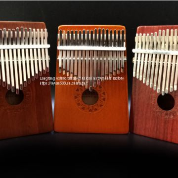 New fashionable stylish 17 Keys Wooden Kalimba Mbira Thumb Piano Traditional Musical Instrument Fast Delivery