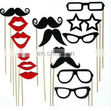 15pcs Photo Booth Props Hat Mustache On A Stick Wedding Party