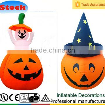 DK-114 119 up and down moving toy inflatable halloween decoration pumpkin stars and stripes hat