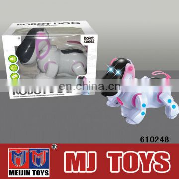 Battery operated robot dog music and light function