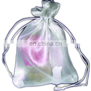 BEADED ORGANZA POUCH