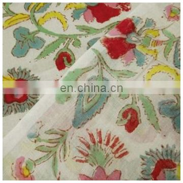5 yards hand done cotton fabric Flower printed fabric hand block printed fabric