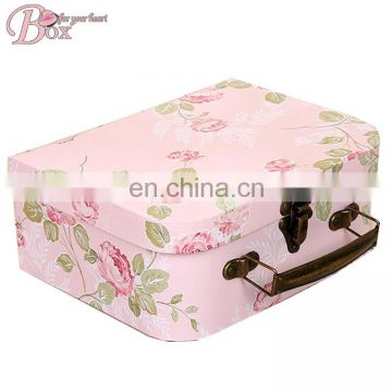 Wholesale Decorative Paper Suitcase Gift Box Handle