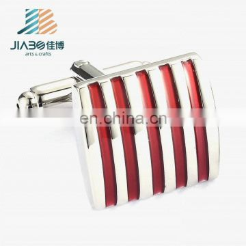 Custom own logo soft enamel fashion blank metal cufflinks