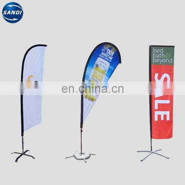 Promotional custom strong beach teardrop flying banner