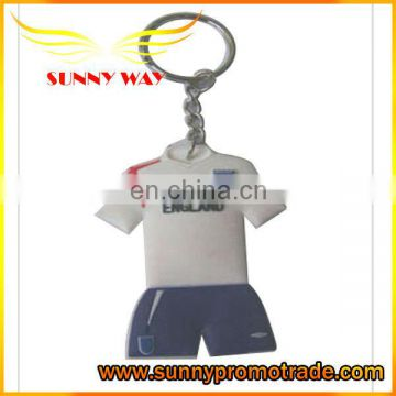 Football jerseys soft pvc keychain