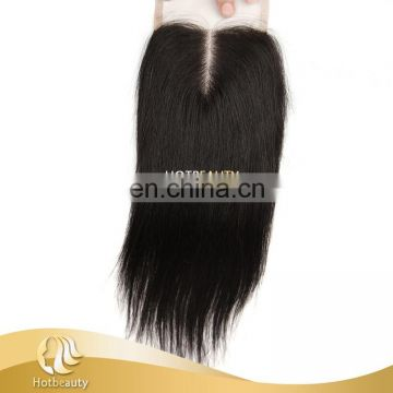 Remy Cheap Wholesale Middle Part Lace Closure Straight Match Bundles