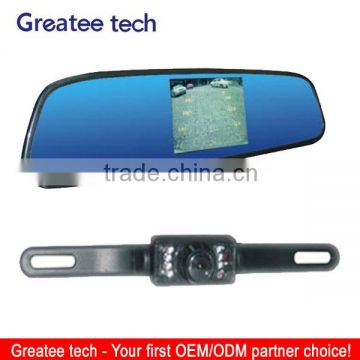 car rearview camera system with 3.5 inch mirror monitor