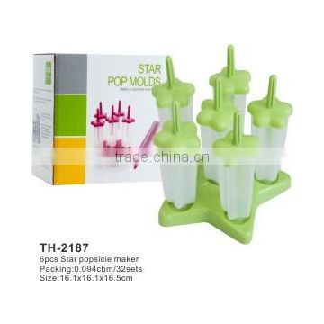 6pcs star popsicle mold ice lolly mold ice maker
