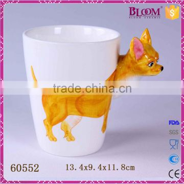 High quality animal desgin coffee cup ceramic