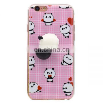 New 3D cute squishy finger pinch case,hard PC + Soft TPU hybrid case,back cover case for iPhone 7