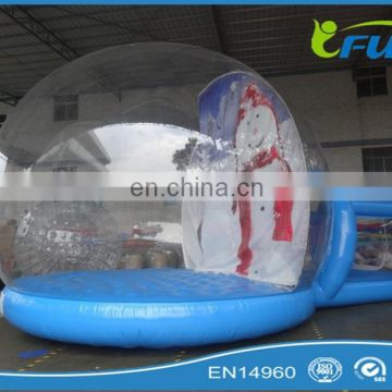 OEM PVC Tarpaulin PVC Dome Inflatable Snow Globe/christmas inflatable snow globe/snow globe inflatable