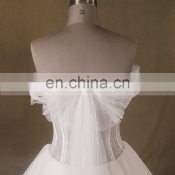Princess See Through Lace Bodice Cap Sleeve Lace Applique Tulle Wedding Ball Gown Pleating Tulle