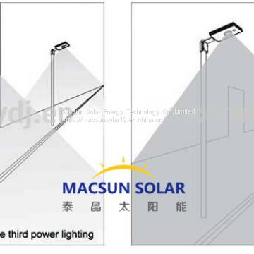 40W 60W 80W 100W Easy installation All in One Solar Light Panel Street Light LED Lamps