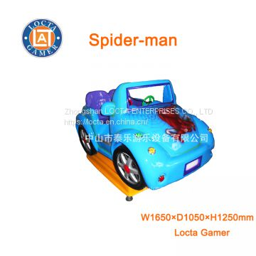 Zhongshan amusement park equipment, hot sale, coin operated, swing game machine spider-man, kiddie rides, rocking car
