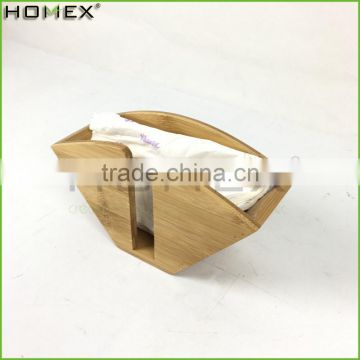 Bamboo Fan Shape Coffee Filter Holder Dispenser Rack Homex-BSCI Factory