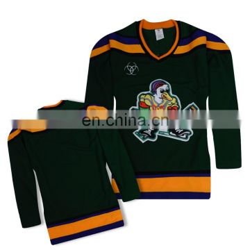 6d7f8cbed ... order embroidered logo tackle twill name and number high quality green anaheim  ducks ice hockey jersey