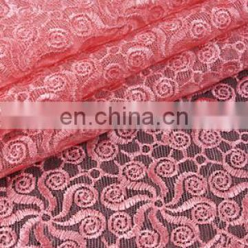 high quality wedding lace fabric/ big organza lace from China