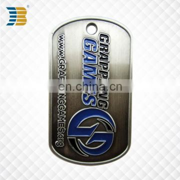High quality cheap custom blank metal military dog tag