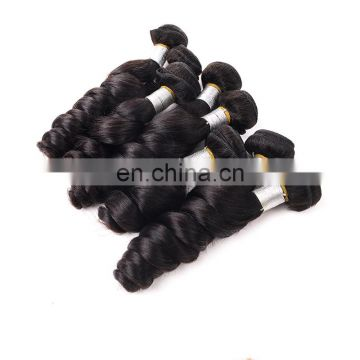 100% human hair weft loose wave unprocessed hair extension can be dyed and bleached