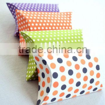 RETRO Multicoloured Pillow Boxes Wedding Pillow Gift Boxes for Favours Xmas Party Box Baby Shower
