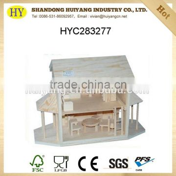 2015 china supplier wholesale natural wooden house model