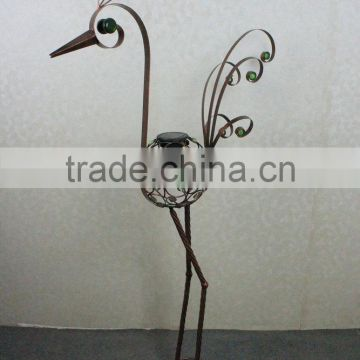 Garden decor metal animal peacock