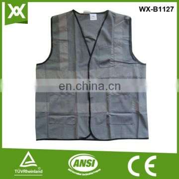 suppliers produce polyester class2 tape high visibility china safety fluo ansi mesh vest