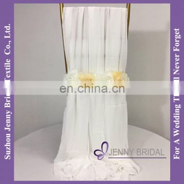 C454A dining chair covers wedding decoration chiffon material to make chair covers