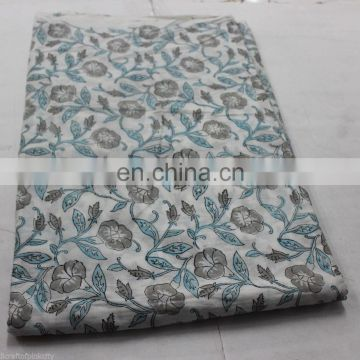 indian Hand Block Print Cotton Fabric Sanganeri voile Print Fabric 1 yard 117