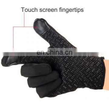 HAWEEL Large Size Two Fingers Touch Screen Outdoor Sports Wind-stopper Full Finger Winter Warm Gloves