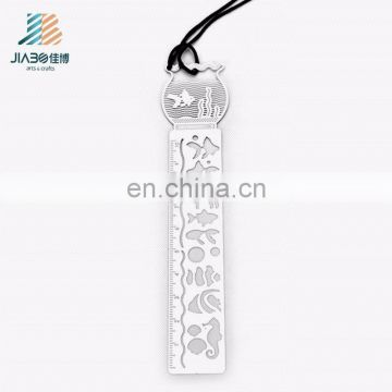 Jiabo custom design exquisite metal souvenir ruler bookmark for kids