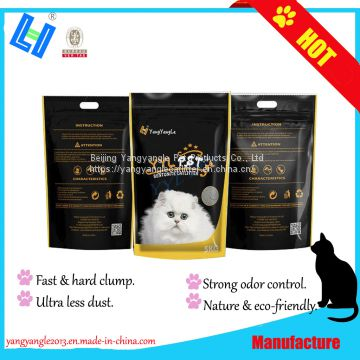 Bentonite cat litter with 5KG, ultra less dust, super odor control, hard clump