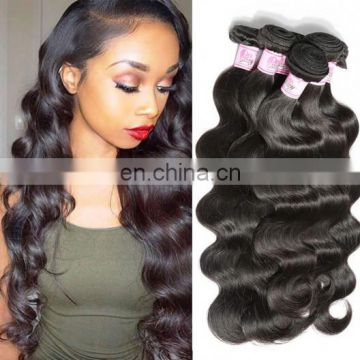 8A virgin hair body wave peruvian hair natural hair care