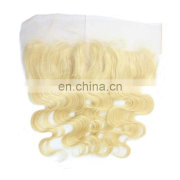 Virgin Hair Bundles With Lace Closure Blonde Color 613 Brazilian Hair Frontal Closure With Human Hair Extensions Body Wave