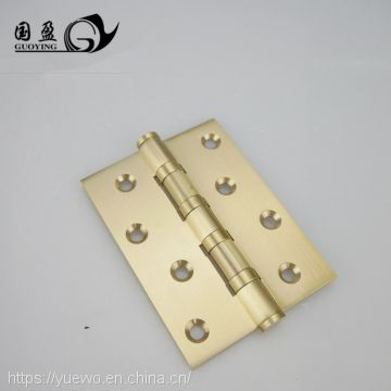 Indoor wooden door hinge bearing full copper hinge pure copper hinge hinge hinge flat open round head gold brass door bolt 4-8 inches