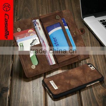 US excellent cell phone cases for iphone 6/6s case Pu leather wallet/Money clip Credit card holder stand