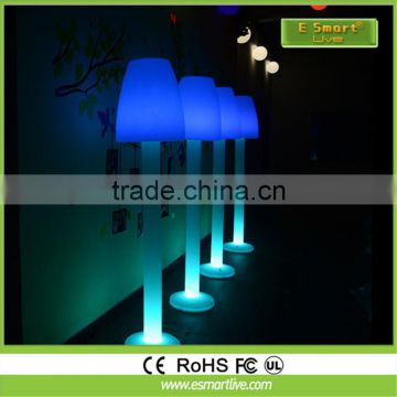 PE plastic rgb 16 colors floor lamp with battery for decoration