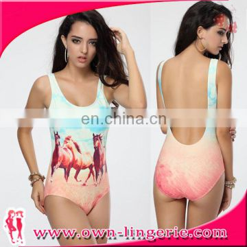 Women Sexy Printing one-piece swimming suit
