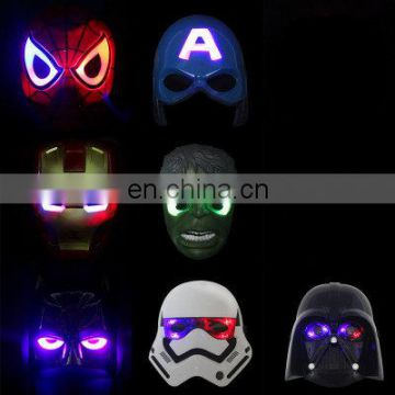 LED party Hulk mask supplies plastic America batman mask