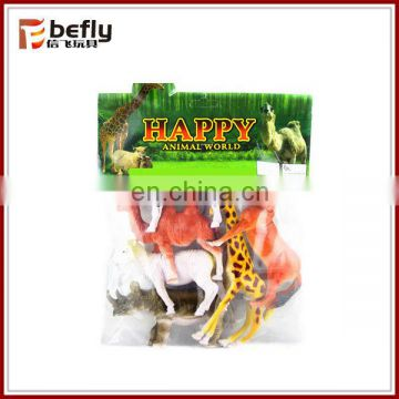 kids 6 inch pvc card package plastic toy forest wild animal sets