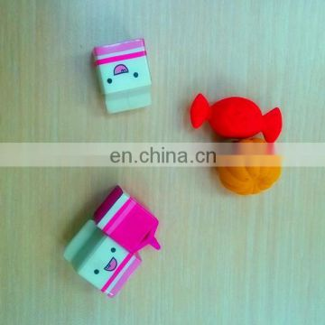 3D Soft Food Shape novelty pretty Eraser