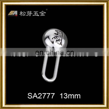 metal zipper puller with logo