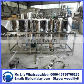 1.5t/day small scale palm oil refining machinery cooking oil refining machine
