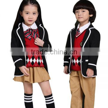 Cotton Plaid Kindergarten School Kids Uniform Design of Uniforms