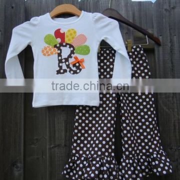 Yiwu Custom Design Baby Clothes Girl S Thanksgiving Hand Embroidered